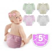 Bebê Fralda Enxuta Reutilizável Calça Plástica Ecológica kit menina