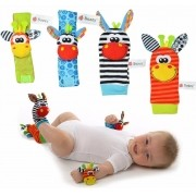 Bebê Kit Sozzy Meias E Pulseiras Chocalhos