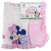 Bebê Manta Matelada Recém Nascido Enxoval Disney Cobertor - Minnie