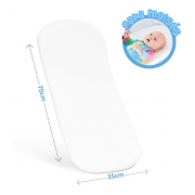 Colchonete Para Berço Moisés Carrinho Bebê Oval Enxoval