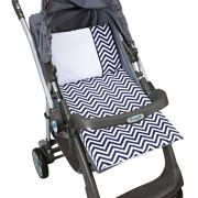 Colchonete Para Carrinho de bebê Estampado Chevron Marinho - 4 peças