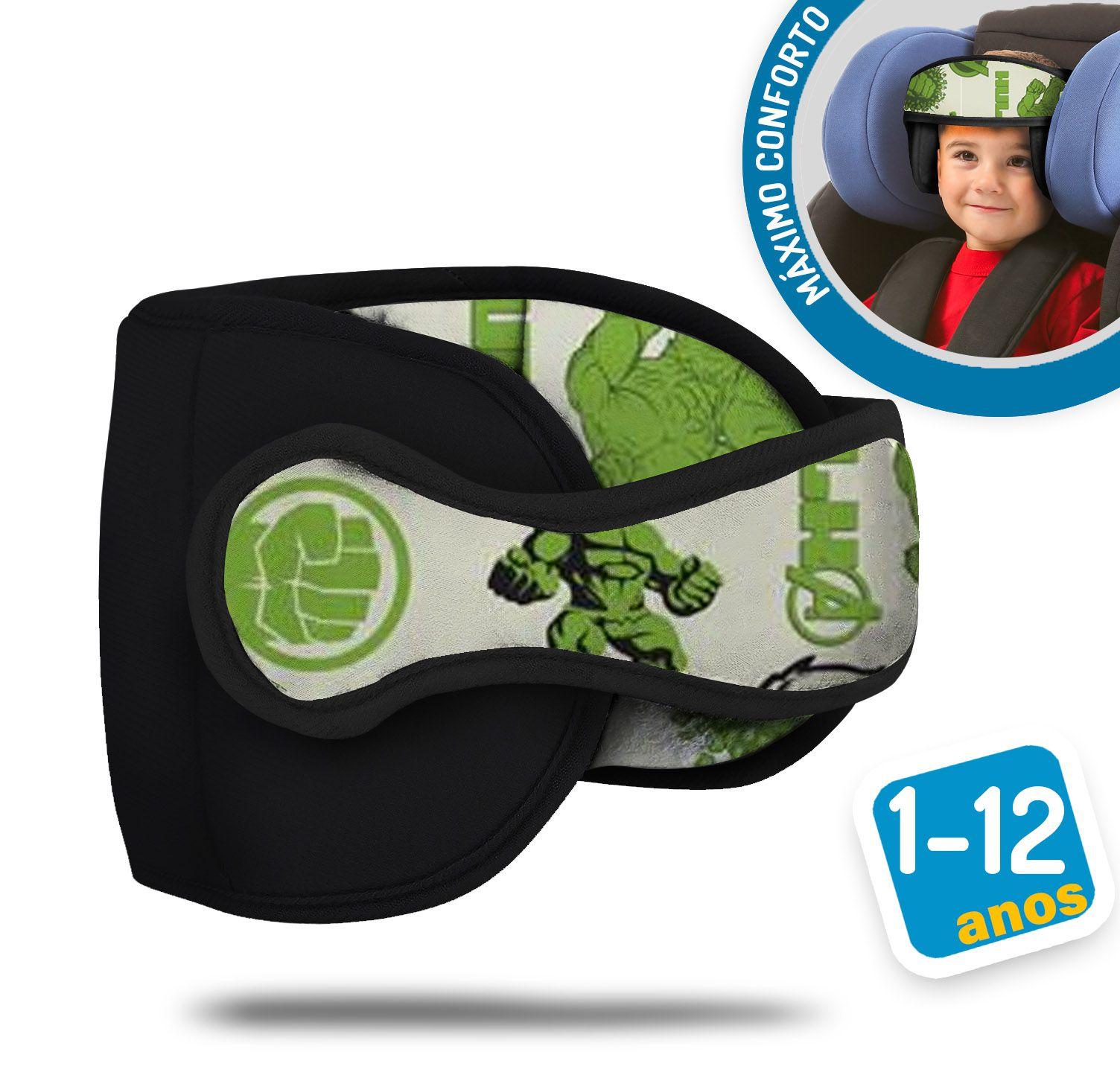 Apoio Protetor De Cabeça Bebê Para Cadeirinha Carro Hulk