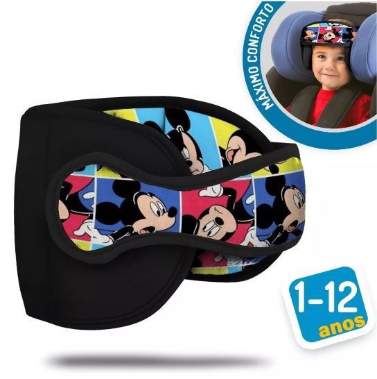 Apoio Protetor De Cabeça Bebê Para Cadeirinha Carro mickey pop