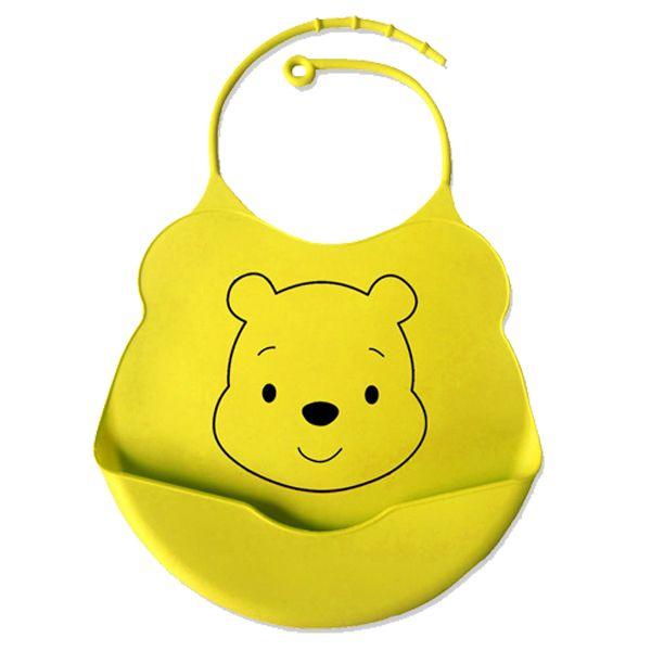Babador de silicone alimentação do bebê disney - Urso Pooh