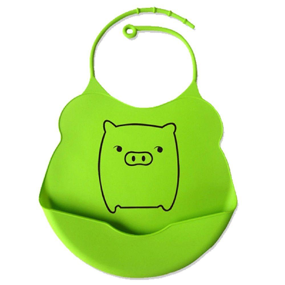 Babador de silicone alimentação do bebê  - Porquinho