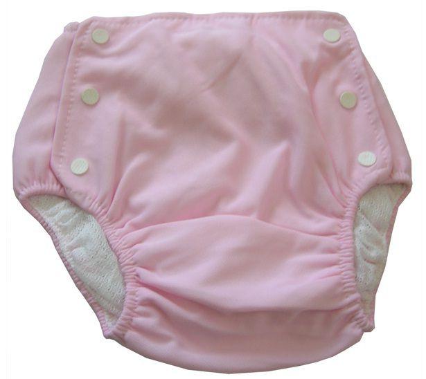 Bebê Fralda Enxuta Reutilizável Calça Plástica Ecológica - Rosa