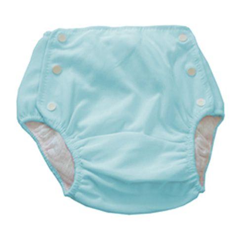 Bebê Fralda Enxuta Reutilizável Calça Plástica Ecológica - Azul