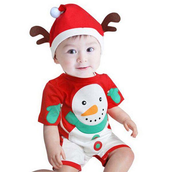 Bebê Macacão Fantasia de Natal boneco de neve