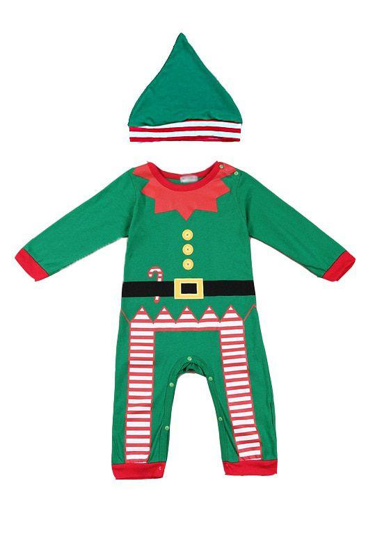 Bebê Macacão Fantasia Natal Gnomo Papai Noel com Gorro