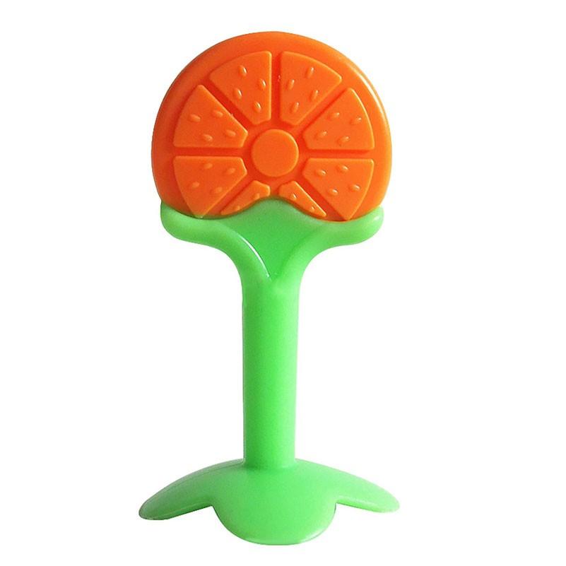 Bebê Mordedor Silicone Frutinha Dentição Massageador Gengiva -  laranja