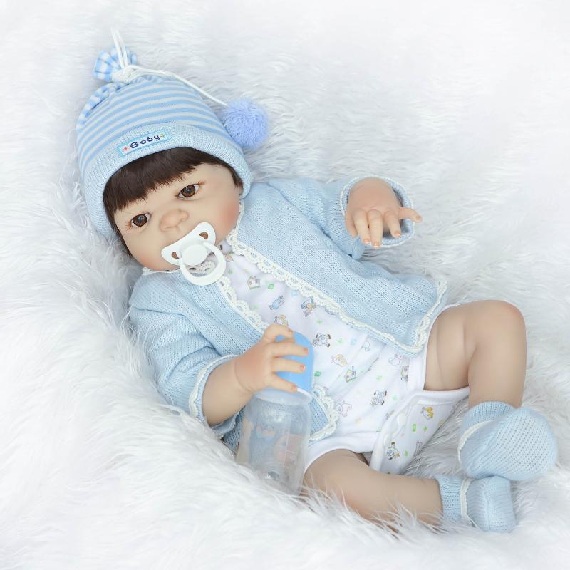 Bebê Reborn Boneca Realista Silicone 56cm Menino