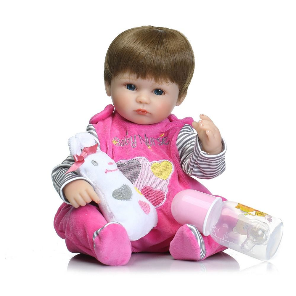 Bebê Reborn Boneca Realista Silicone com macacão