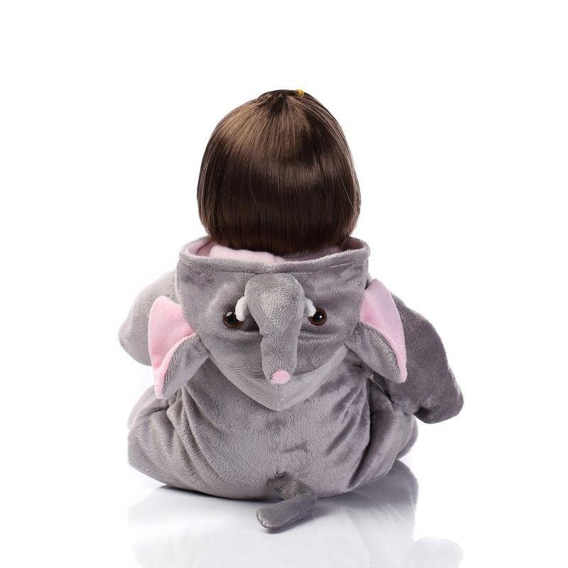 Bebê Reborn Boneca Realista Silicone fantasia elefante