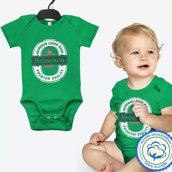 Body Heineken Bebê Cerveja Fantasia Carnaval Aniversário
