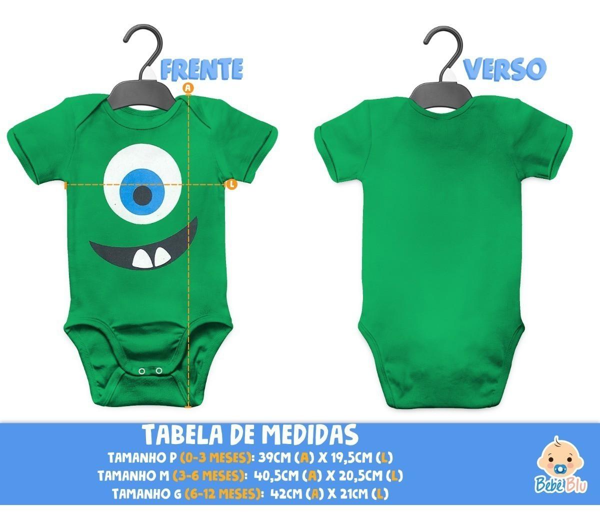 Body Mike Monstros Sa Bebê Fantasia Festa Carnaval Passeio