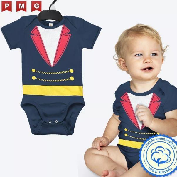 Body Pequeno Príncipe Bebê Fantasia Festa Carnaval Infantil