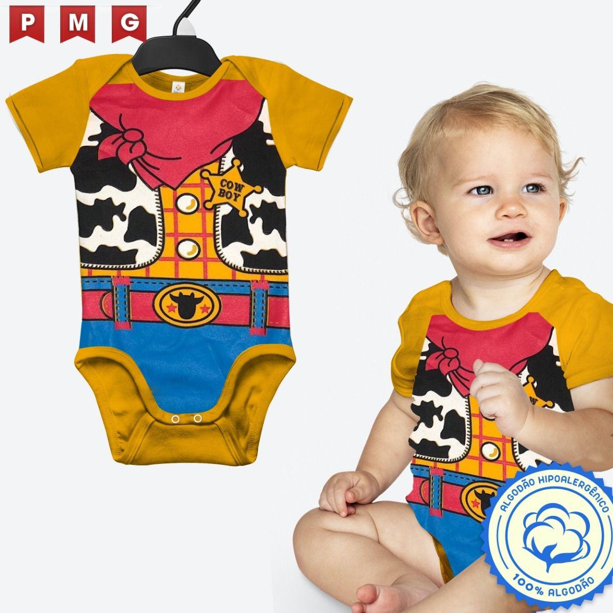 Body Woody Toy Story Fantasia bebê Festa Carnaval Infantil