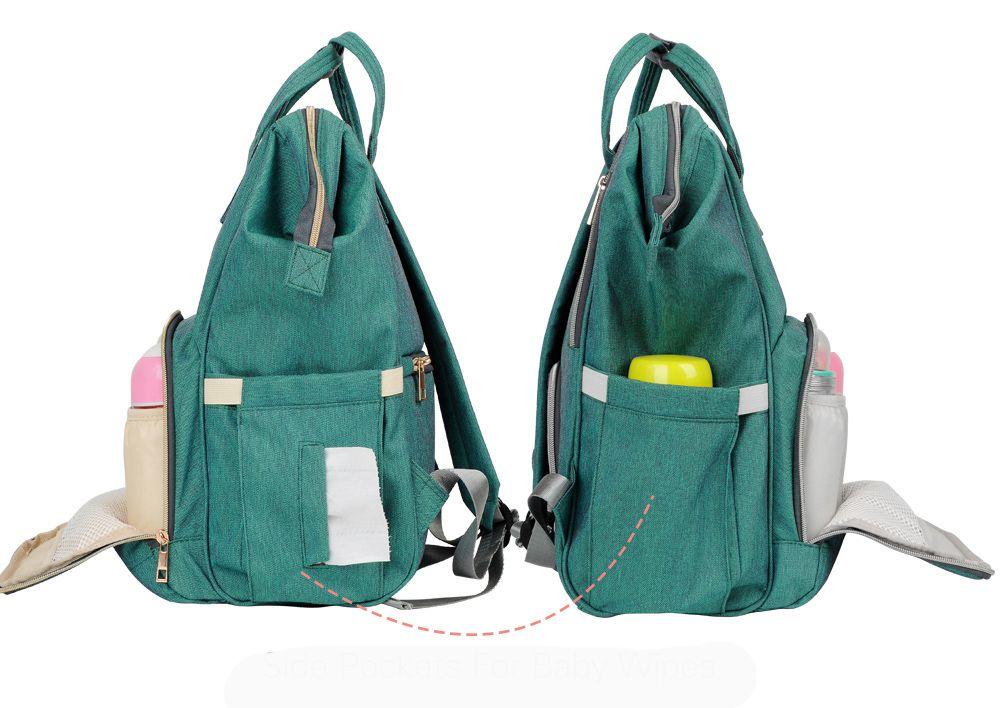 Bolsa mochila mala maternidade - Verde