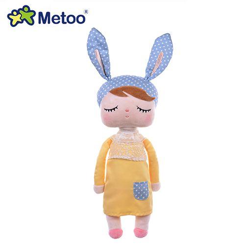 Boneca Metoo Doll Angela Pelúcia De Dormir Bebê Infantil - Coelha amarela