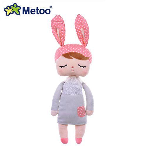 Boneca Metoo Doll Angela Pelúcia De Dormir Bebê Infantil - Coelha rosa