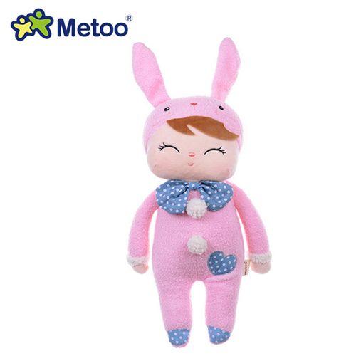 Boneca Metoo Doll Angela Pelúcia De Dormir Bebê Infantil - Pink Bunny