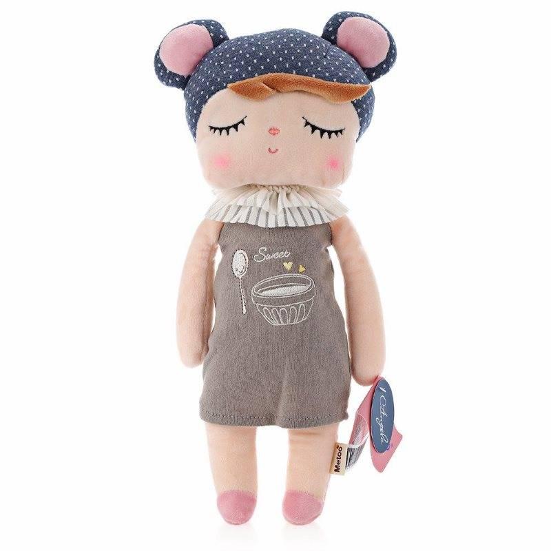 Boneca Metoo Doll Angela Pelúcia De Dormir Bebê Infantil - Retro Bear Azul