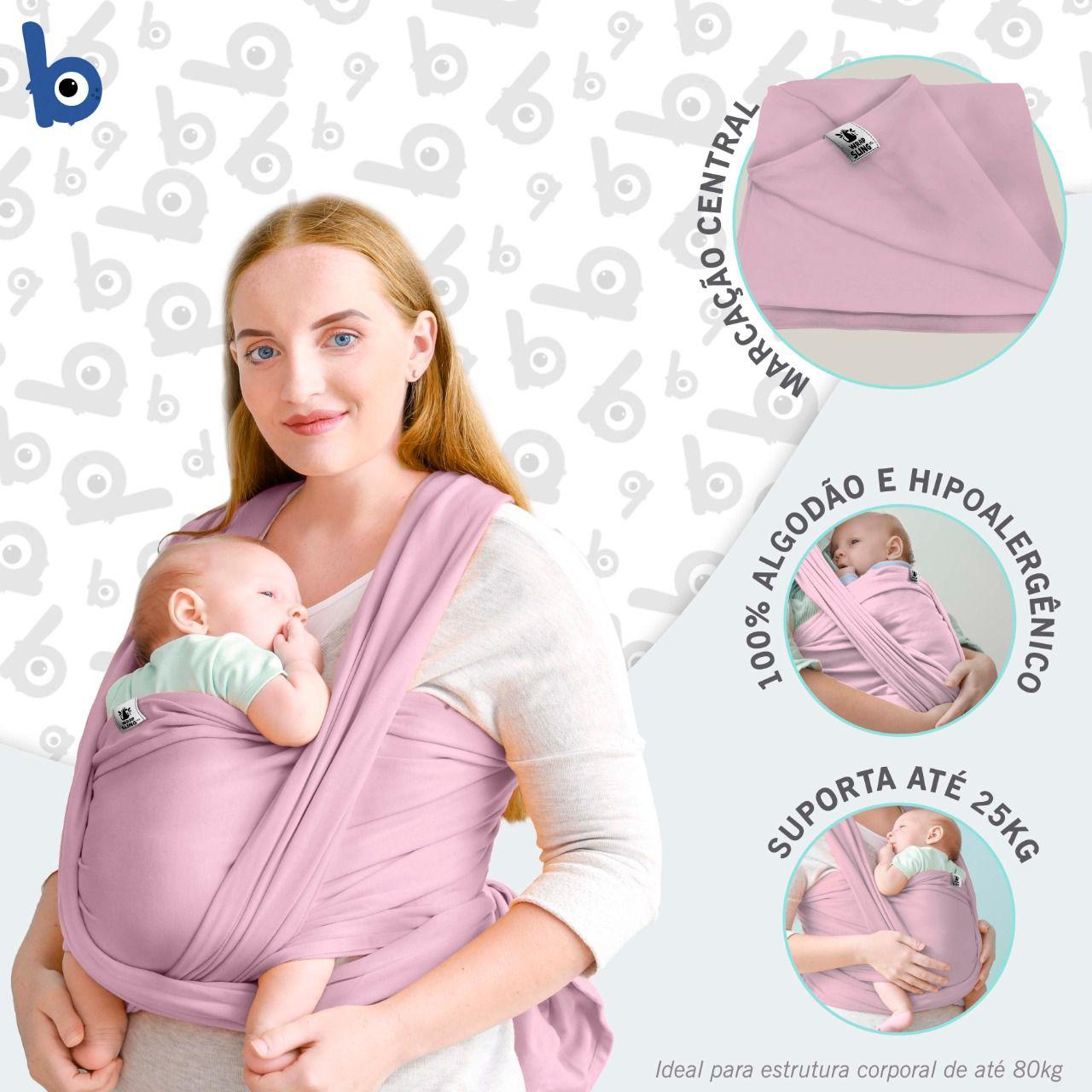 Canguru Wrap Sling Bebê Carregador rosa bebê