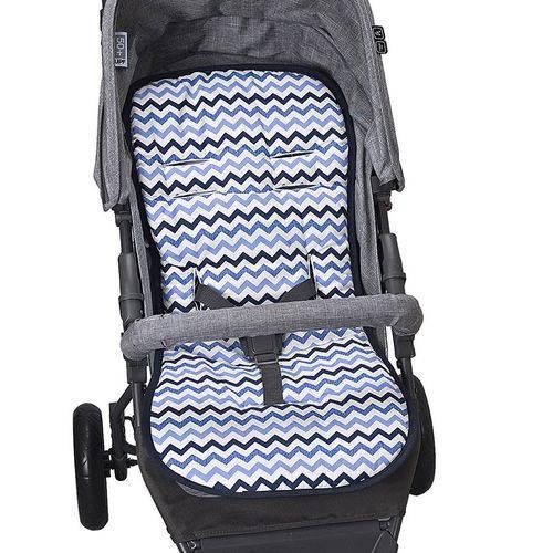 Capa Para Carrinho De Bebê Protetor Universal Marinho com azul