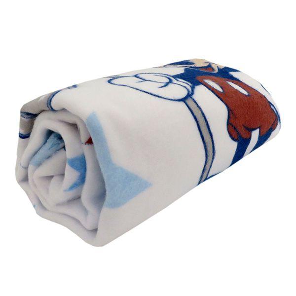 Cobertor Disney Mickey Azul manta enxoval bebê