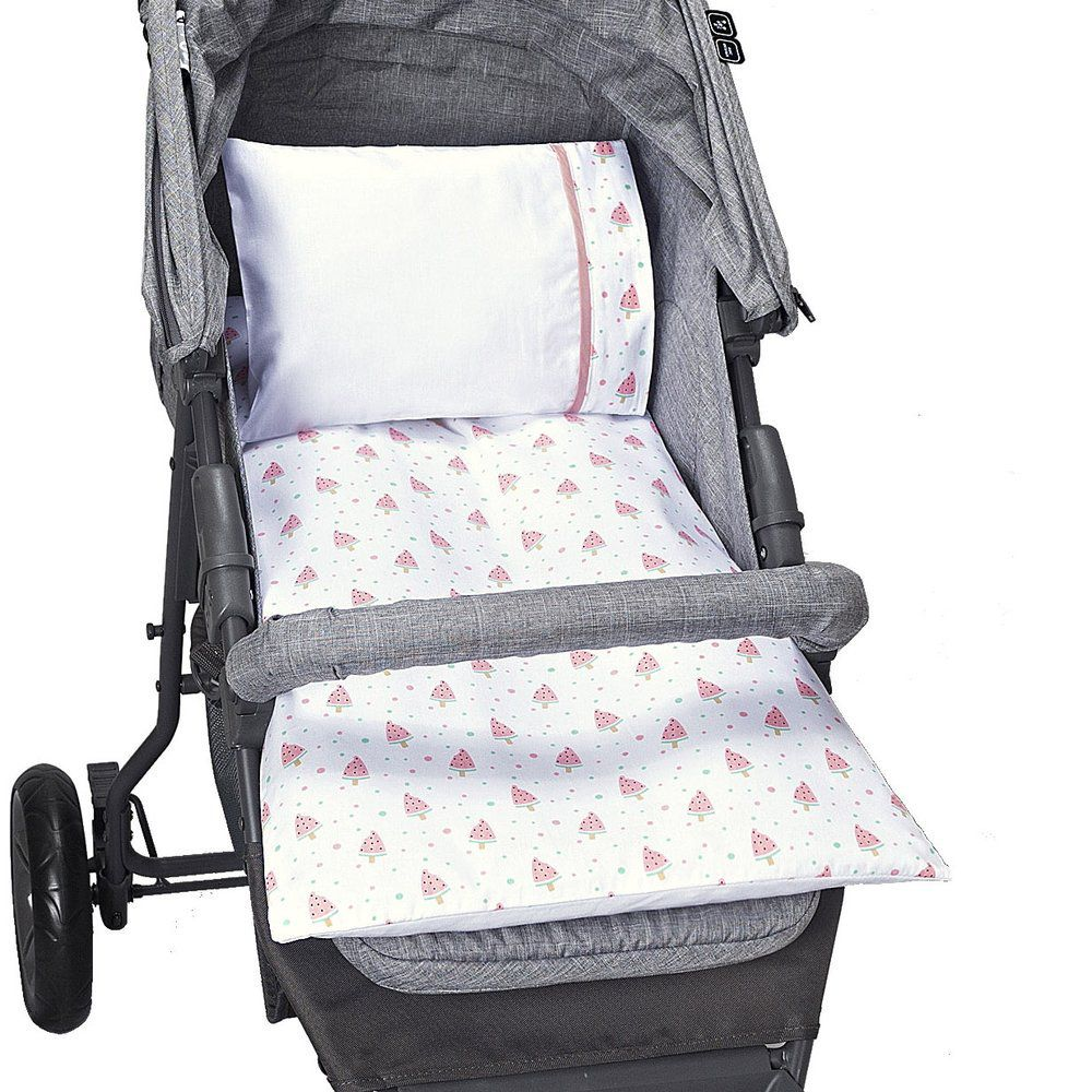 Colchonete Para Carrinho de bebê Estampado Melância - 4 peças