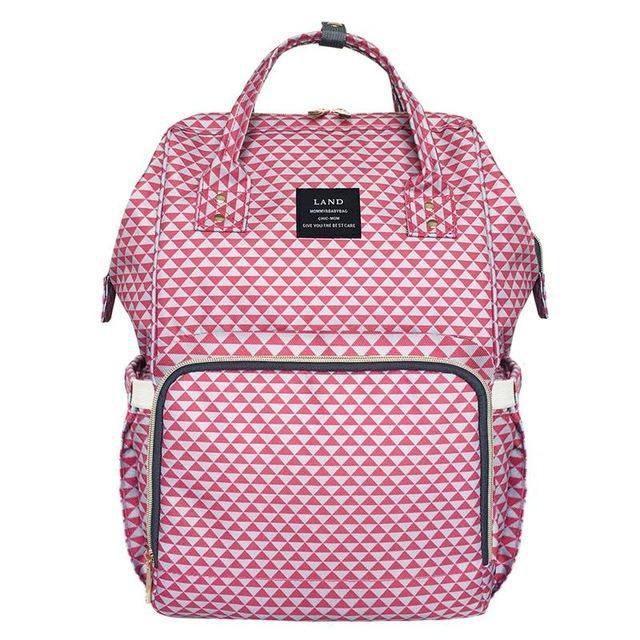 CÓPIA - Bolsa mochila mala maternidade - Vermelha estampada