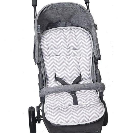 Capa Para Carrinho De Bebê Protetor Universal chevron cinza