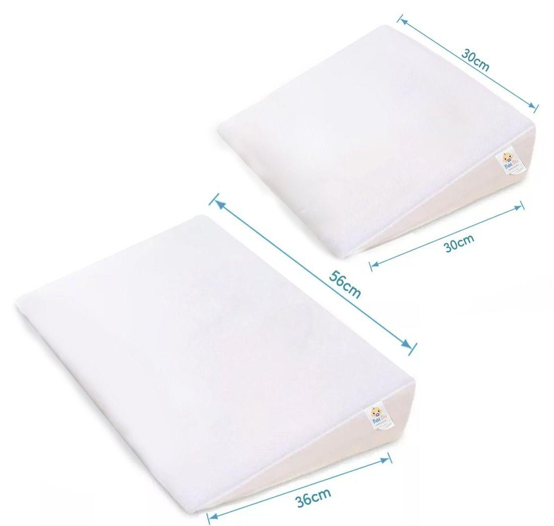 kit Travesseiro Anti Refluxo P berço e mini berço e G cama e berço