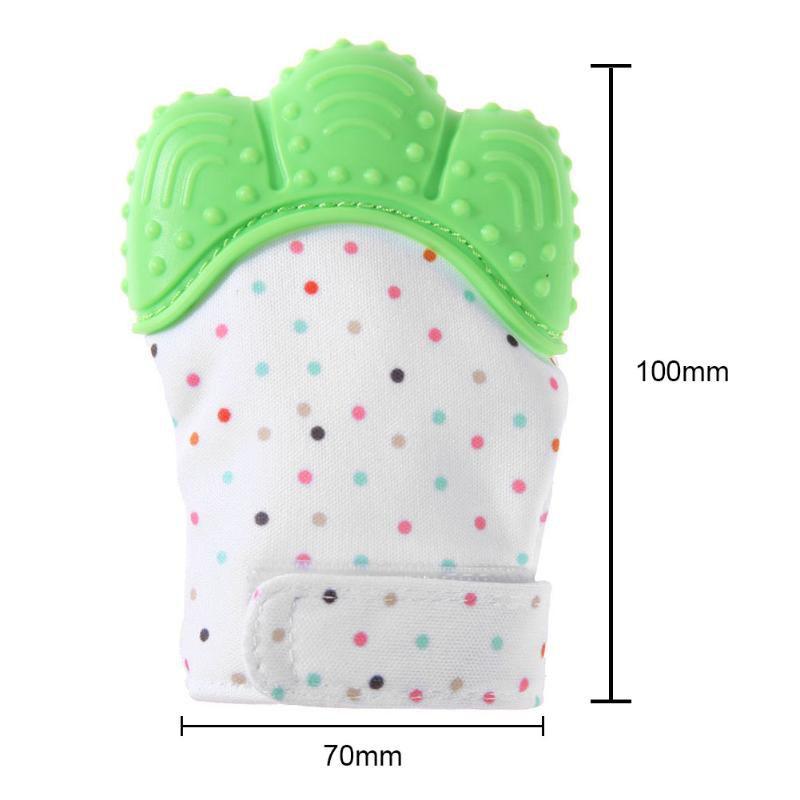 Luva de silicone mordedor dentição para bebê