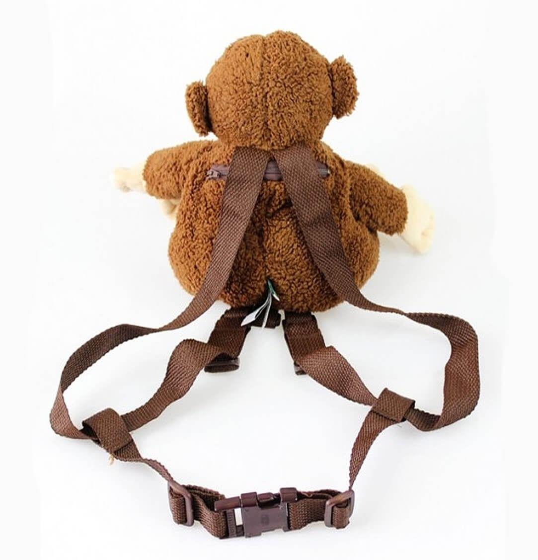 Mochila Coleira Infantil Guia De Segurança Pelúcia - Macaco