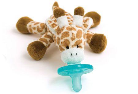 Naninha pelúcia com chupeta - Girafa