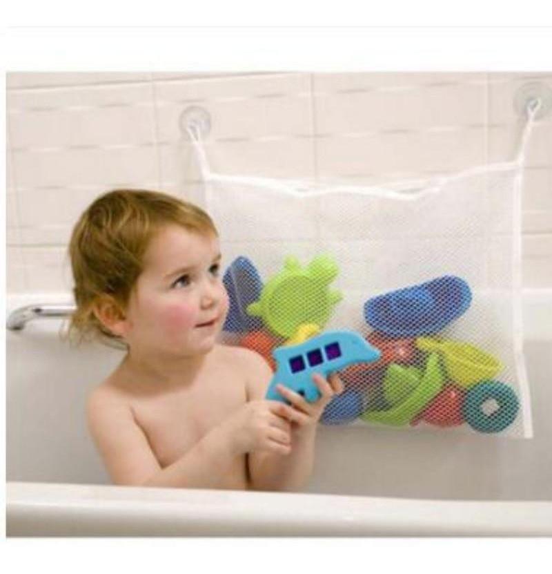 Rede organizador de brinquedos para Banho bebê e criança
