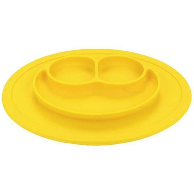 Pratinho Silicone P/ Bebê Alimentação Papinha - Amarelo