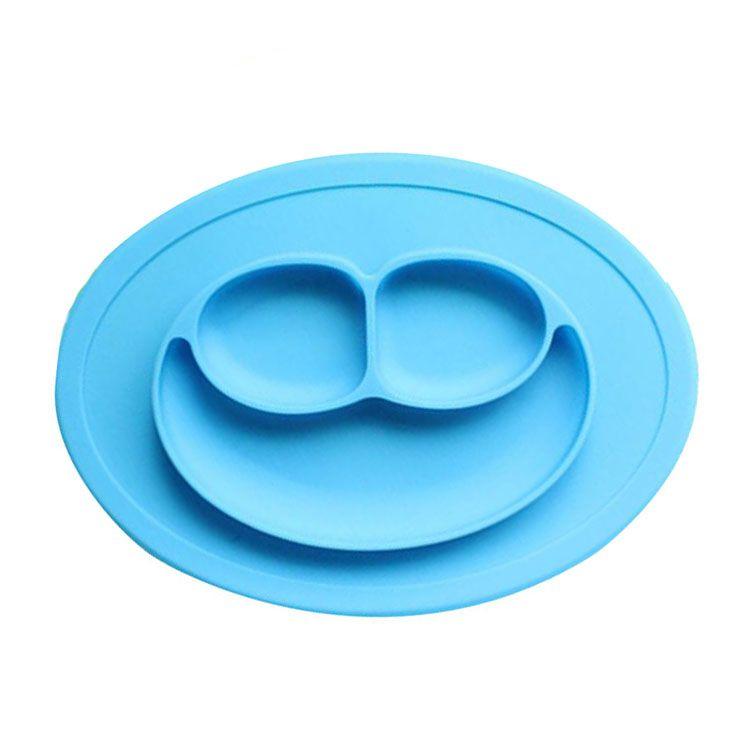 Pratinho Silicone P/ Bebê Alimentação Papinha - Azul