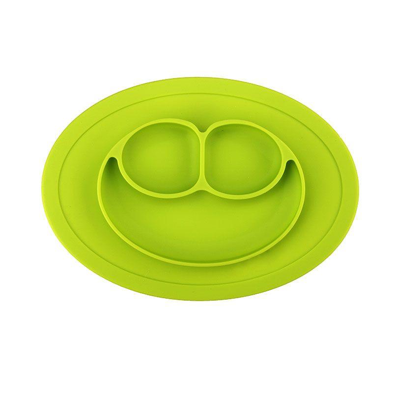 Pratinho Silicone P/ Bebê Alimentação Papinha - verde