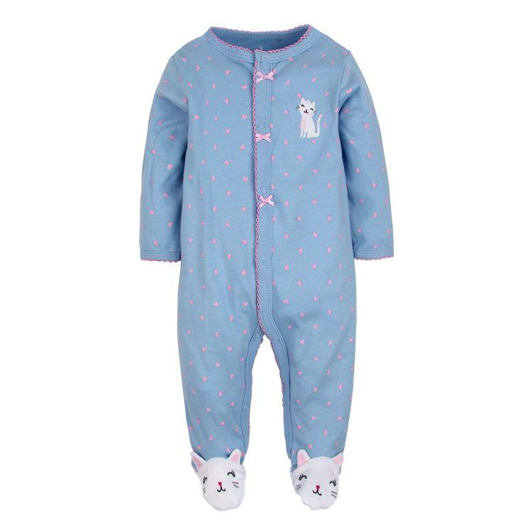 Roupinha Pijama Macacão Manga Longa bebê Menina