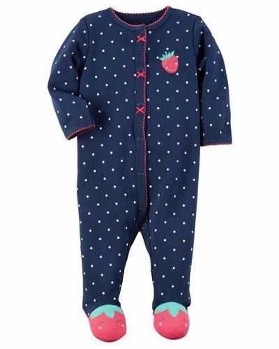 Roupinha Pijama Macacão Manga Longa bebê Menina - Morango