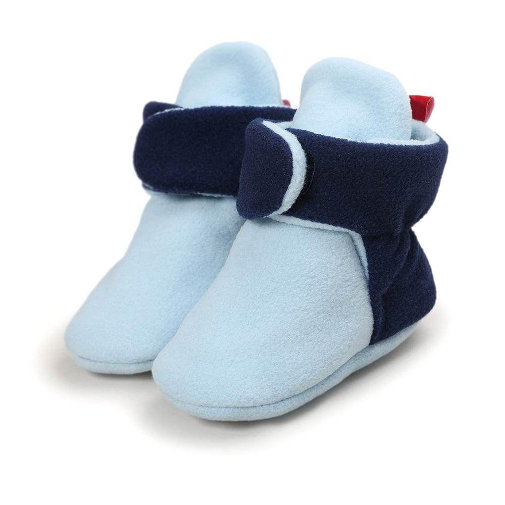 Sapatinho Pantufa Quentinha Enxoval bebê Inverno - Azul