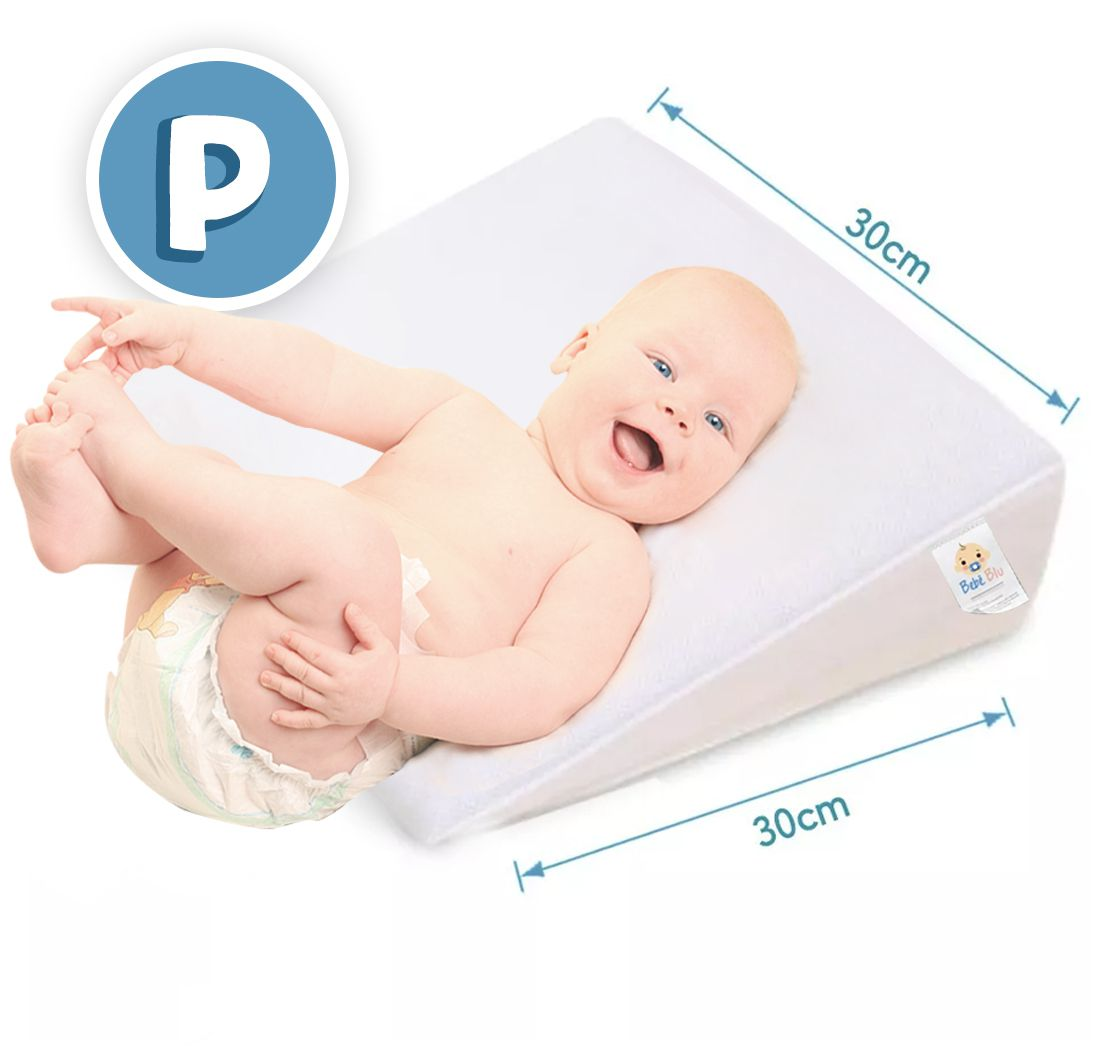Travesseiro Anti Refluxo rampa  P/ mini Berço e Carrinho de bebê