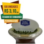 100 Cevadores de Chimarrão Personalizado Chimafácil  | Brinde