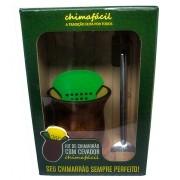 Kit de Chimarrão Chimafácil Bomba, Cuia e Cevador Plástico