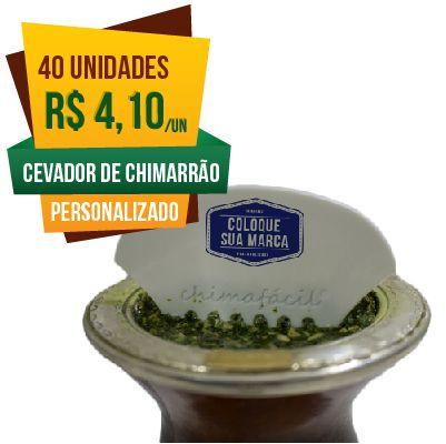 40 Cevadores de Chimarrão Personalizado Chimafácil | Brinde