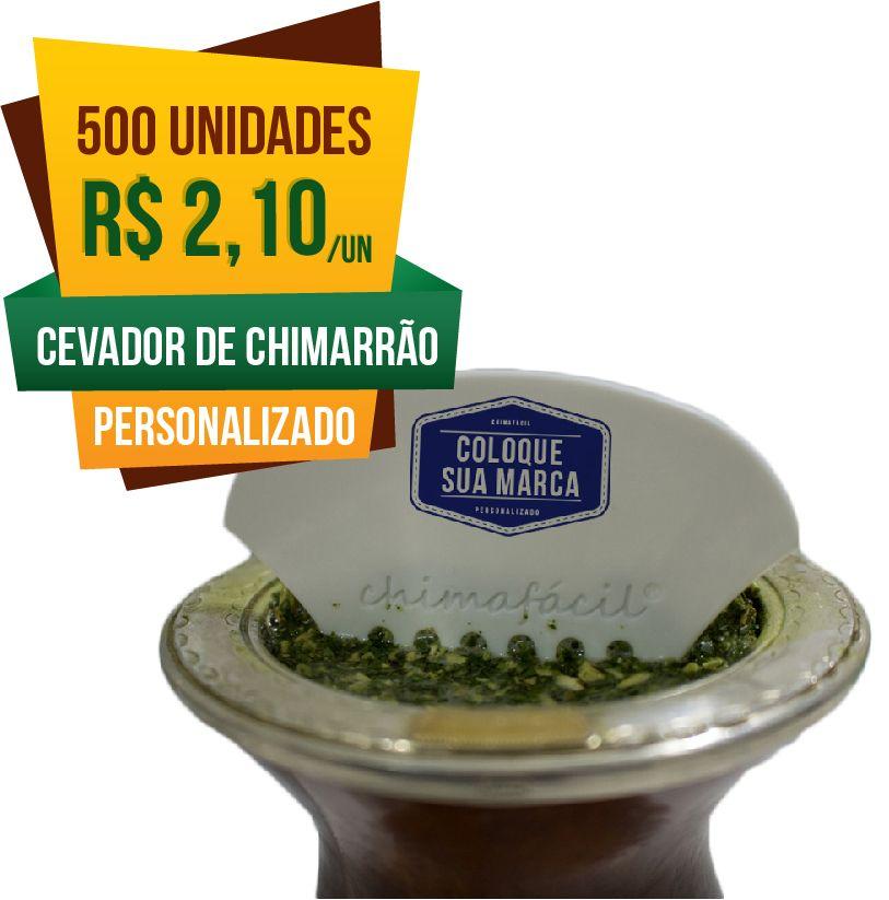 500 Cevadores de Chimarrão Personalizado Chimafácil | Brinde