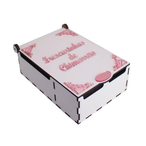 Caixa para Enfeites de Chimarrão - Rosa