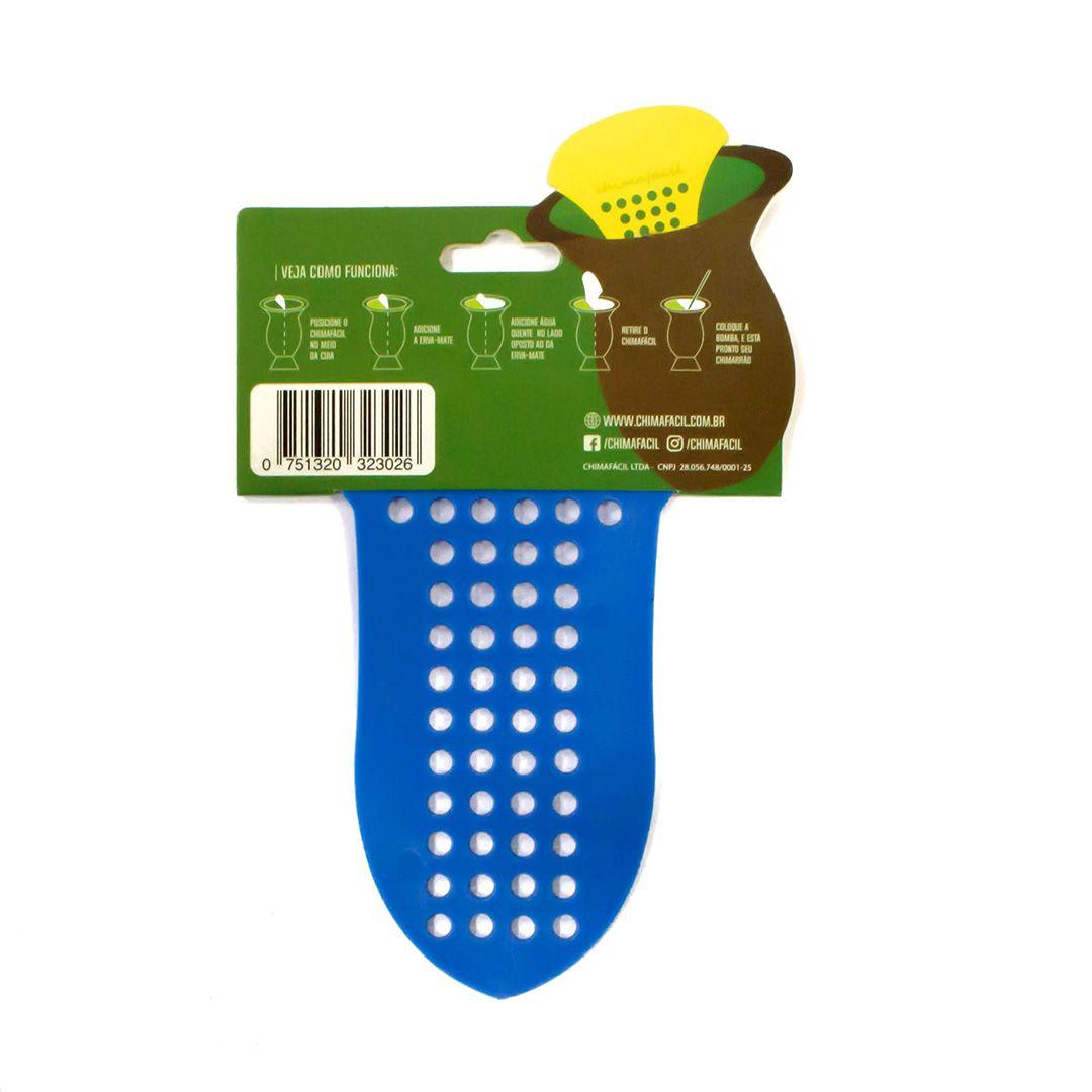 Cevador de chimarrão Chimafácil Azul | Modelo Largo